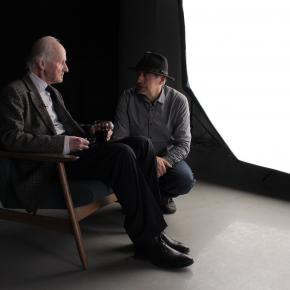 """A. Nasvytis ir G.Trimakas """"Dizaino fondo interviu"""" metu 2017 m."""